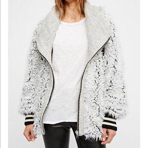 NWOT Free People Fluffy Dolman Jacket XS/S $228